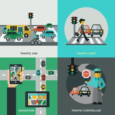 Concetto di traffico impostato vettore