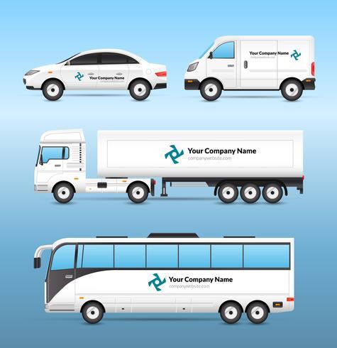 Set di pubblicità per il trasporto vettore