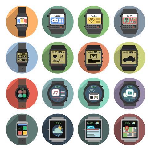 Icone Smart Watch vettore