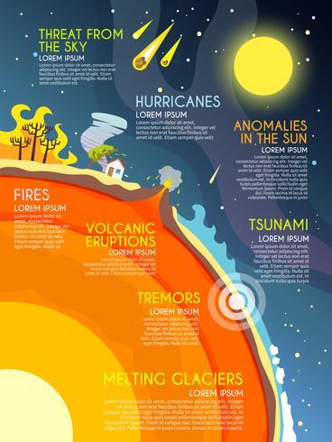 Infografica disastro naturale vettore
