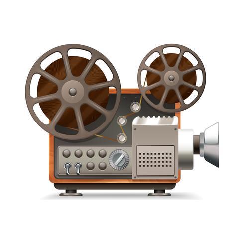 Proiettore cinematografico realistico vettore