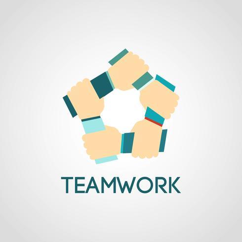 Icone di lavoro di squadra piatte vettore