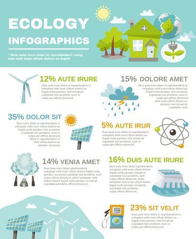 Eco energia infografica vettore
