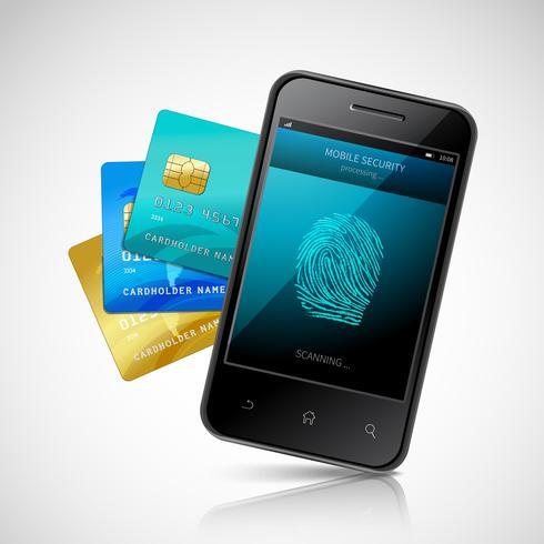 Pagamento mobile biometrico vettore