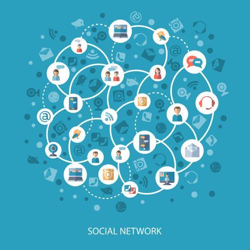 Concetto di comunicazione di reti sociali vettore