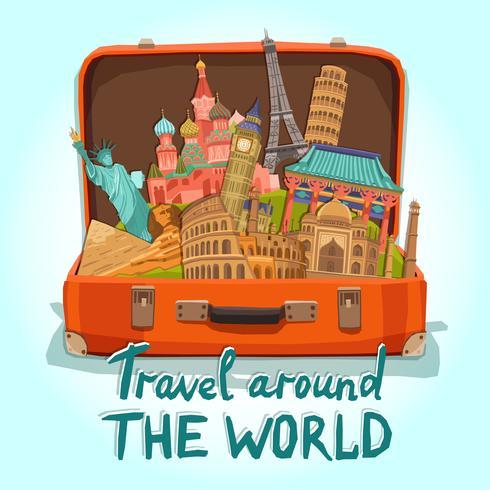 Illustrazione della valigia turistica vettore