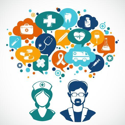 Illustrazione di concetto di medicina vettore