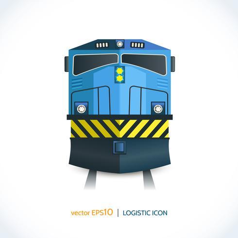 Treno icona logistica vettore
