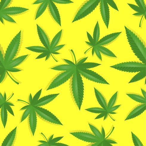 Modello di cannabis di marijuana senza soluzione di continuità vettore