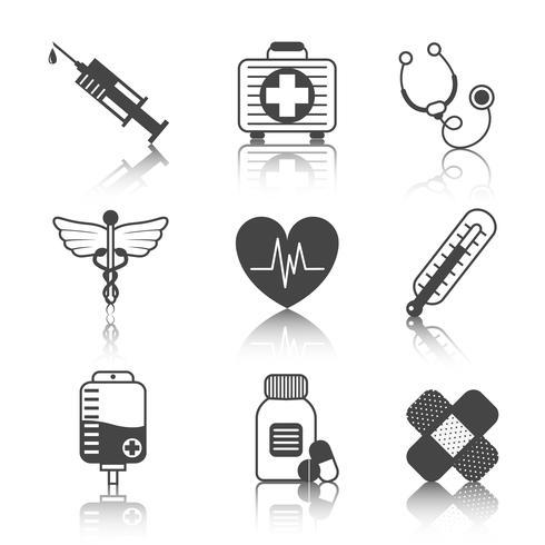 Set di icone di medicina vettore