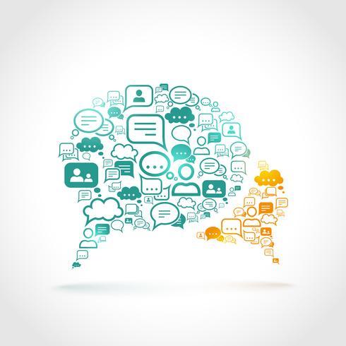 Concetto di comunicazione chat vettore