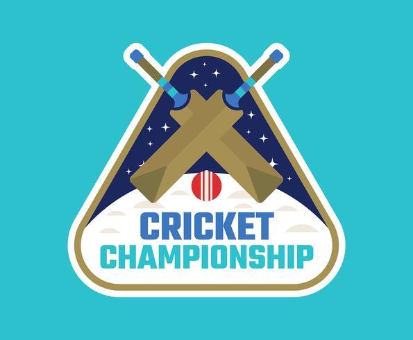 Campionato di cricket vettore