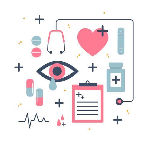 Vettore delle icone di sanità