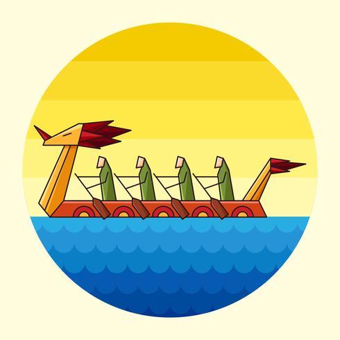 festival della barca del drago vettore
