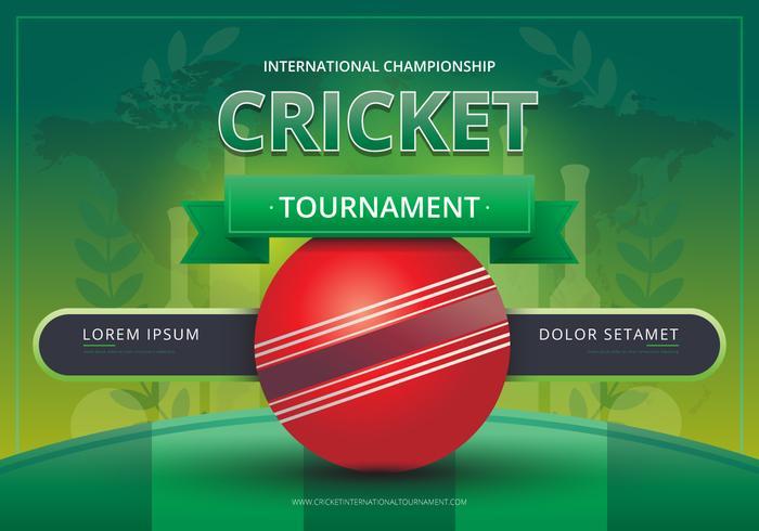 Logo di cricket e illustrazione di battaglia del torneo vettore