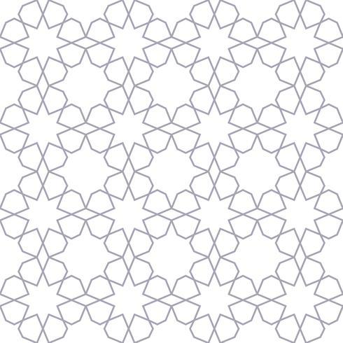 modello geometrico senza cuciture stile islamico vettore