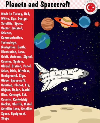 Pianeti e veicoli spaziali, eps, vettoriale