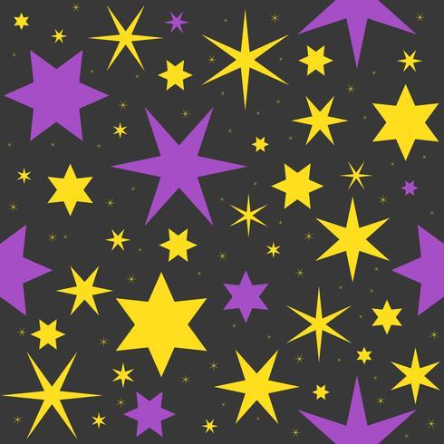sfondo di Halloween tema stella magica vettore