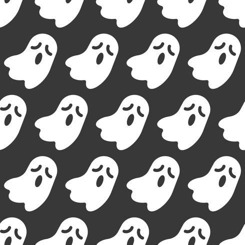Fantasma, modello senza cuciture di Halloween, design piatto con maschera di ritaglio vettore