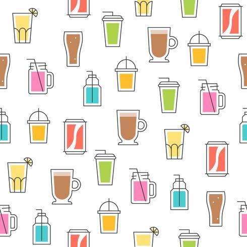 modello senza cuciture di estate bevanda tema per carta da parati o carta da imballaggio vettore