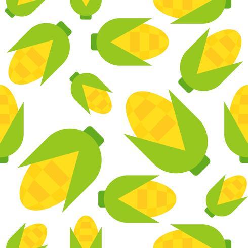 Seamless pattern di mais, stile piatto vettore