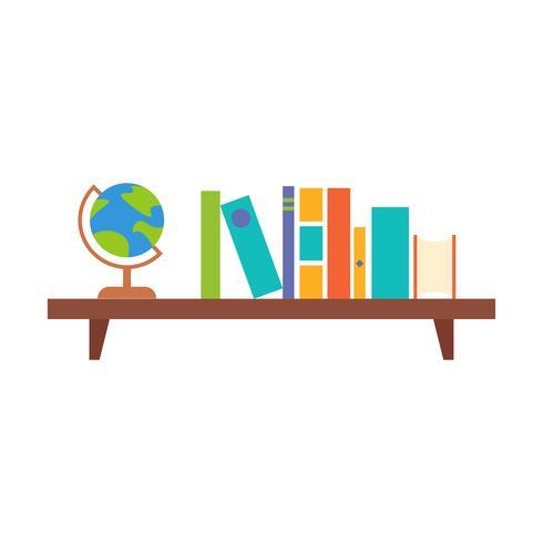 scaffale per libri sospeso, design piatto vettore