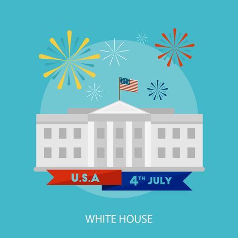 Progettazione dell'illustrazione concettuale della Casa Bianca vettore