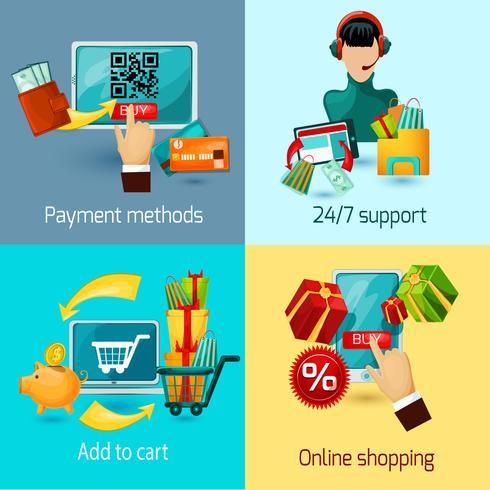 Set di piatti e-commerce vettore