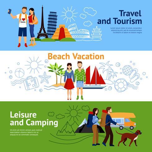 Set di banner di opzioni di vacanza vettore