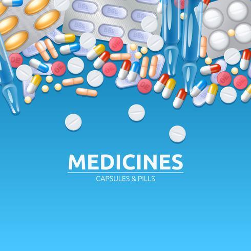 Illustrazione di sfondo di farmaci vettore