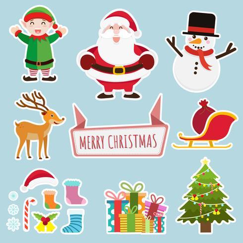Natale e anno nuovo sfondo di decorazione vettore