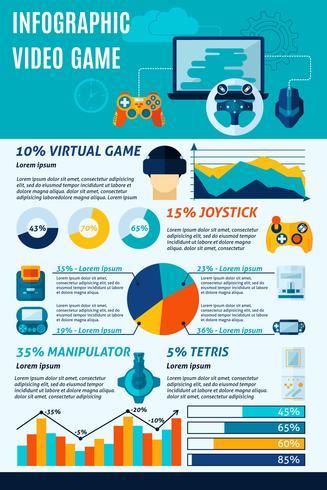 Infografica di videogiochi vettore