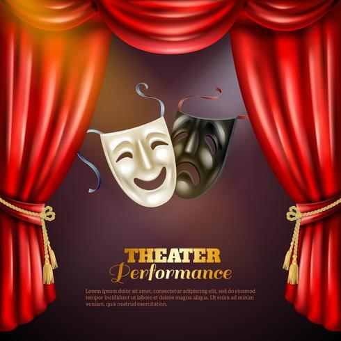 Illustrazione di sfondo del teatro vettore