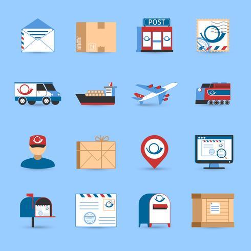 Set di icone post vettore