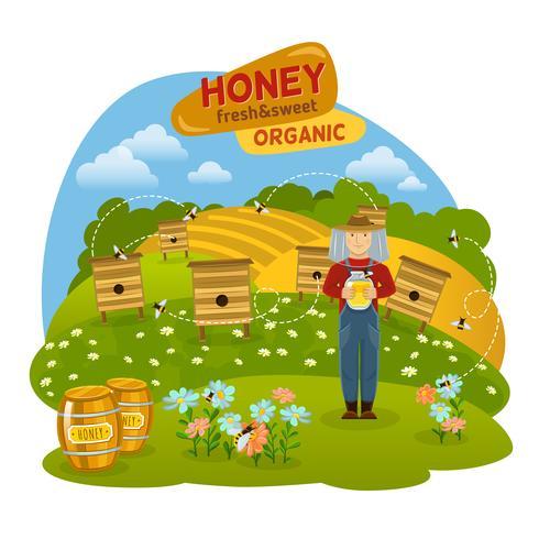 Illustrazione del concetto di miele vettore