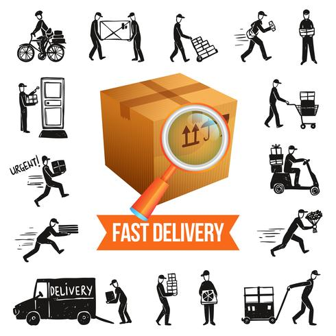 Illustrazione di consegna veloce vettore