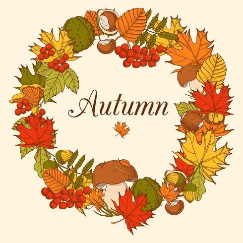 Cornice decorativa color autunno vettore