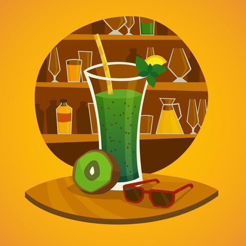 concetto di juice bar vettore