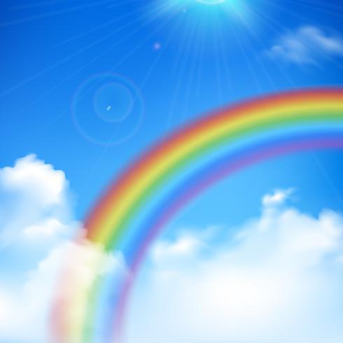 Illustrazione di sfondo arcobaleno vettore
