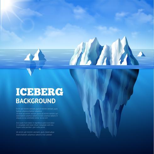 Illustrazione di sfondo iceberg vettore