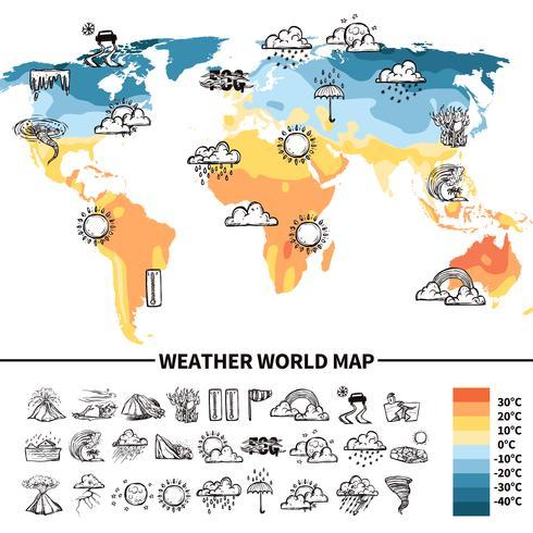 Concetto di design di meteorologia vettore