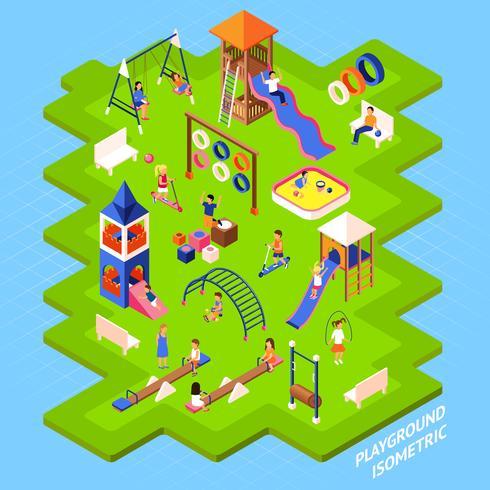 Poster del parco giochi vettore