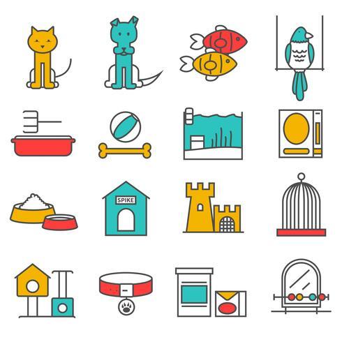 Set di animali domestici vettore