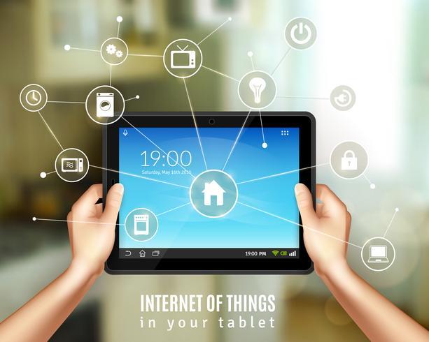 tablet casa intelligente vettore