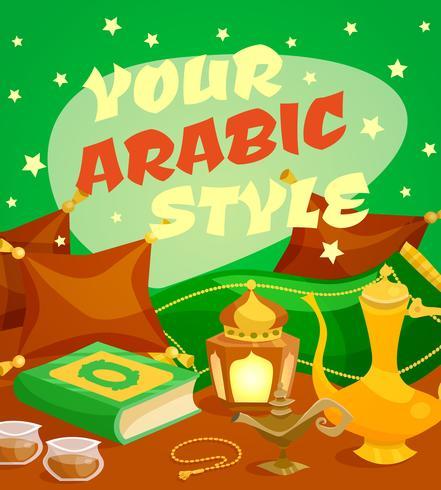 Concetto di cultura araba vettore
