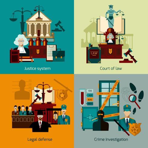 Set piatto di legge vettore