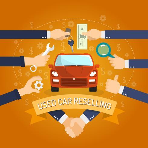 Concetto di rivendita di auto vettore