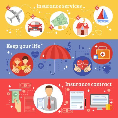 Set di banner assicurativi vettore