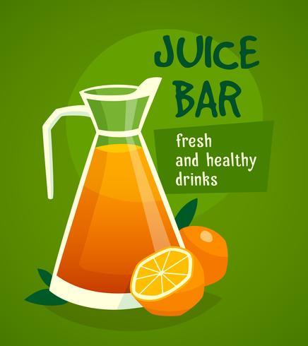 Orange Juice Design Concept vettore