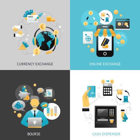 Concetto di progetto di cambio valuta vettore